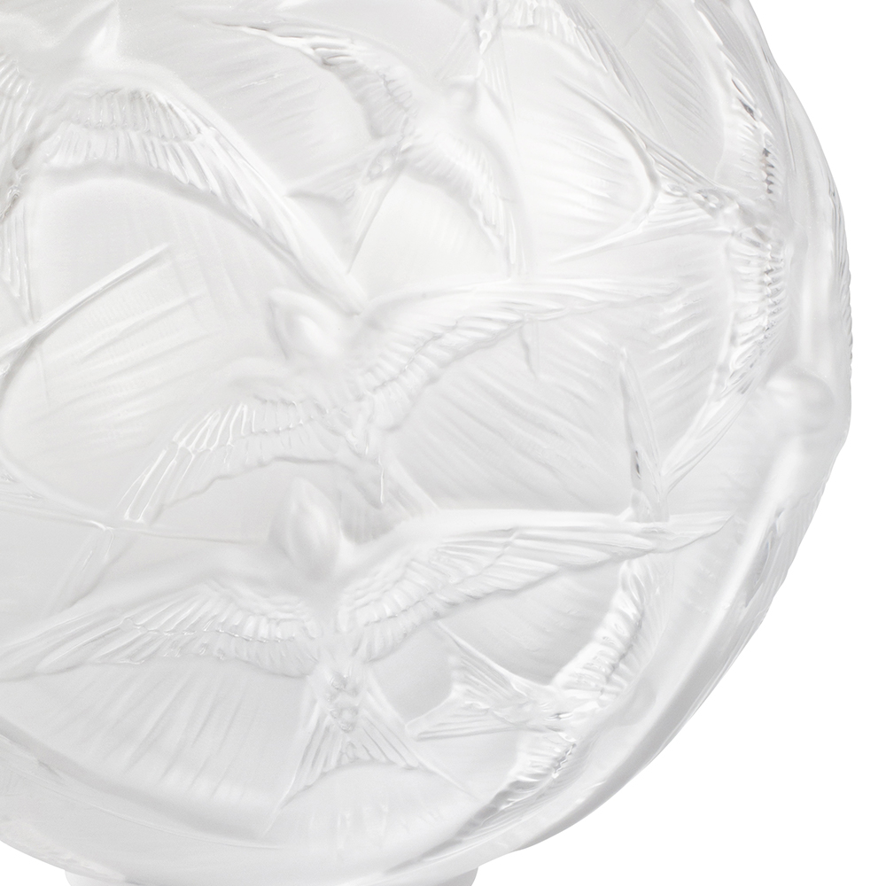 Hirondelles medium vase | Clear crystal | Vase Lalique