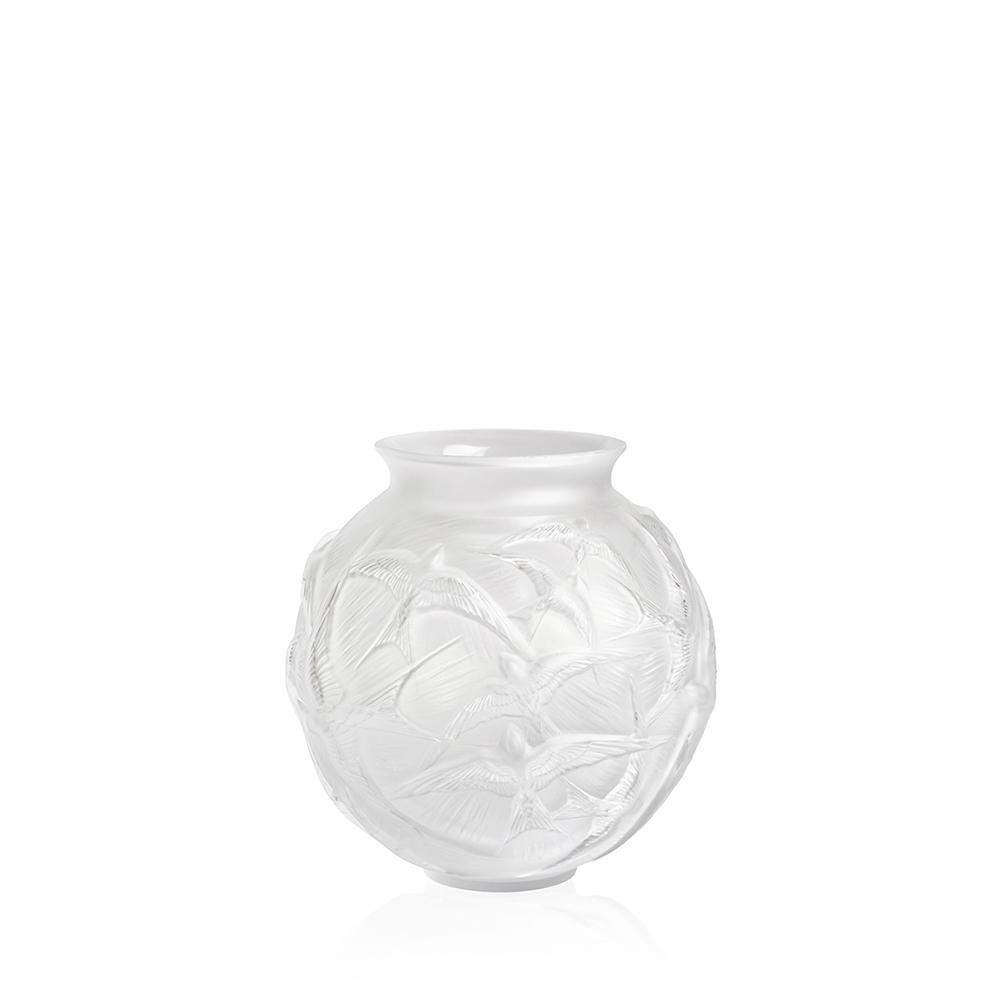 Vase Hirondelles moyen modèle | Cristal incolore | Vase Lalique