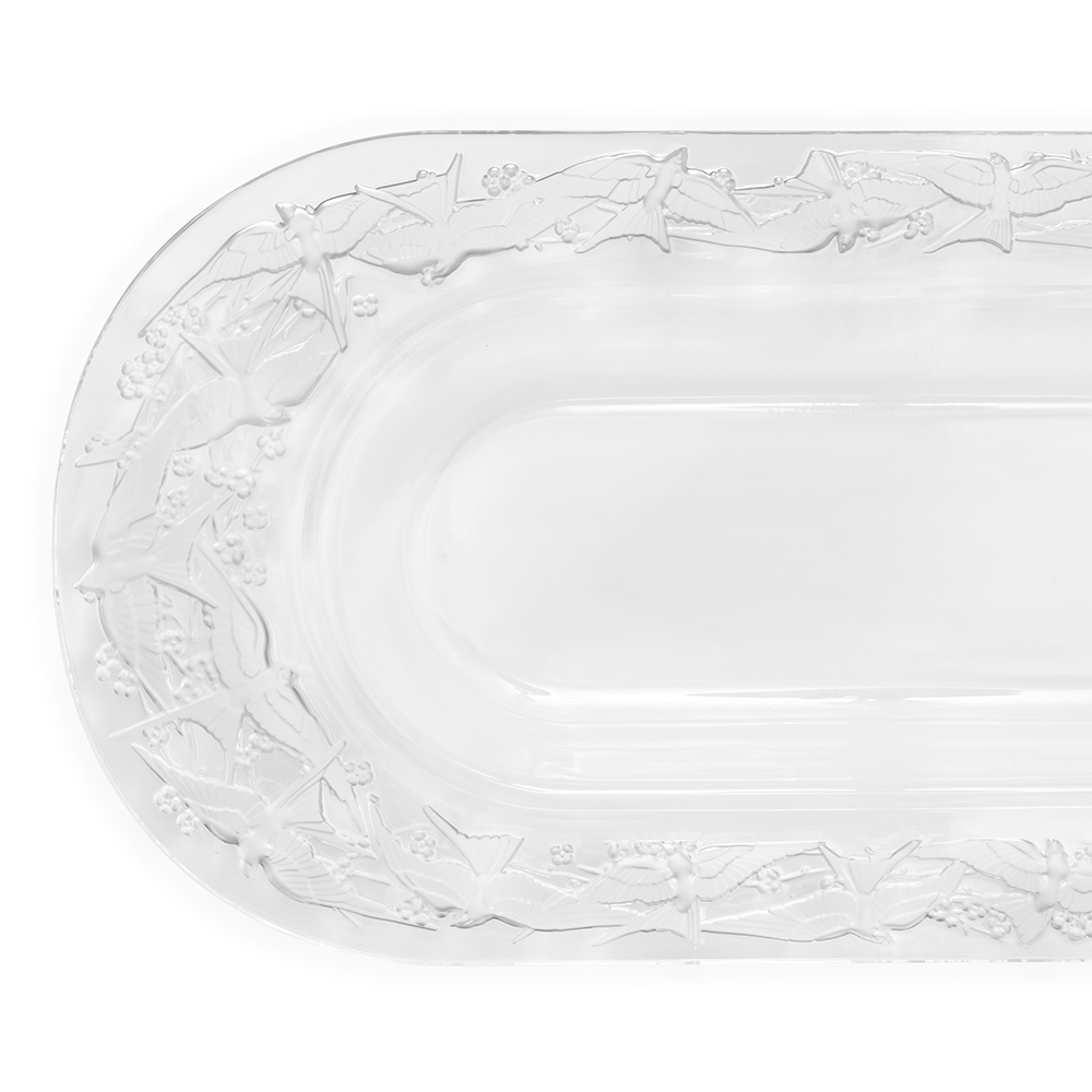 Hirondelles dish | Clear crystal | Lalique crystal