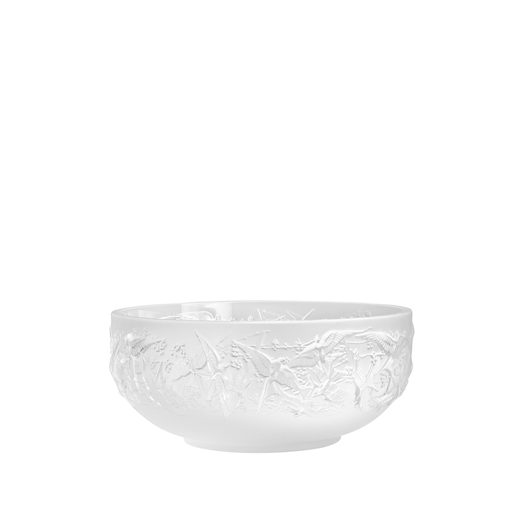 Hirondelles bowl | Clear crystal | Lalique crystal bowl