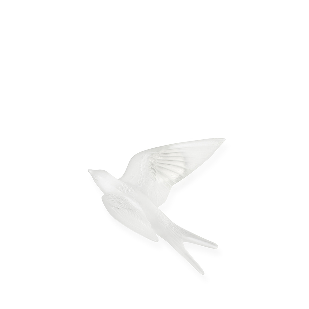 Swallow wings up wall sculpture | Clear crystal | Sculpture Lalique