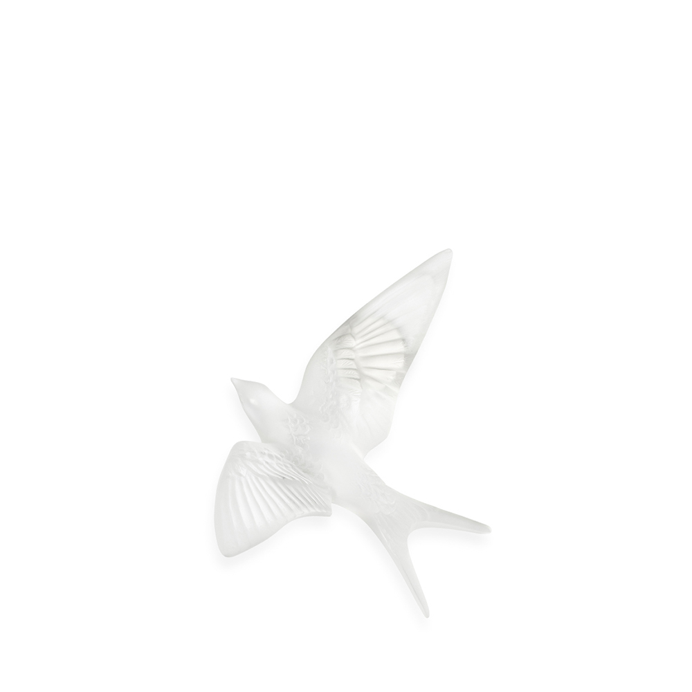Swallow wall sculpture | Clear crystal | Sculpture Lalique