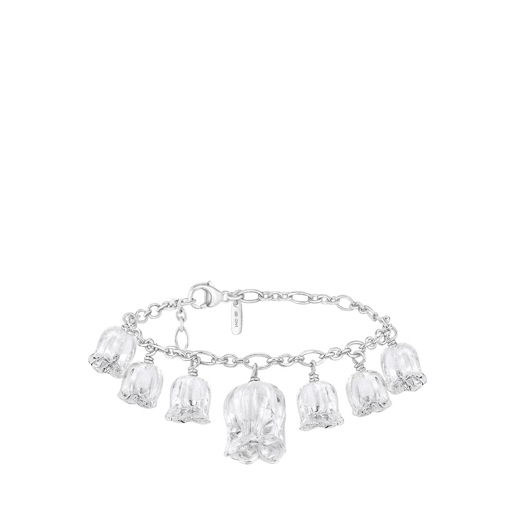 Muguet bracelet | Clear crystal, silver | Costume jewellery Lalique