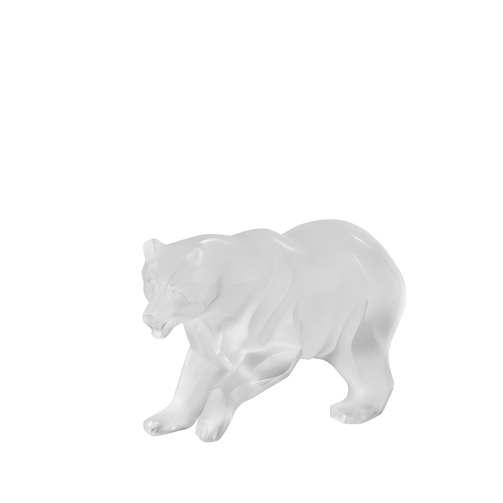 Bear sculpture | Clear crystal | Sculpture Lalique