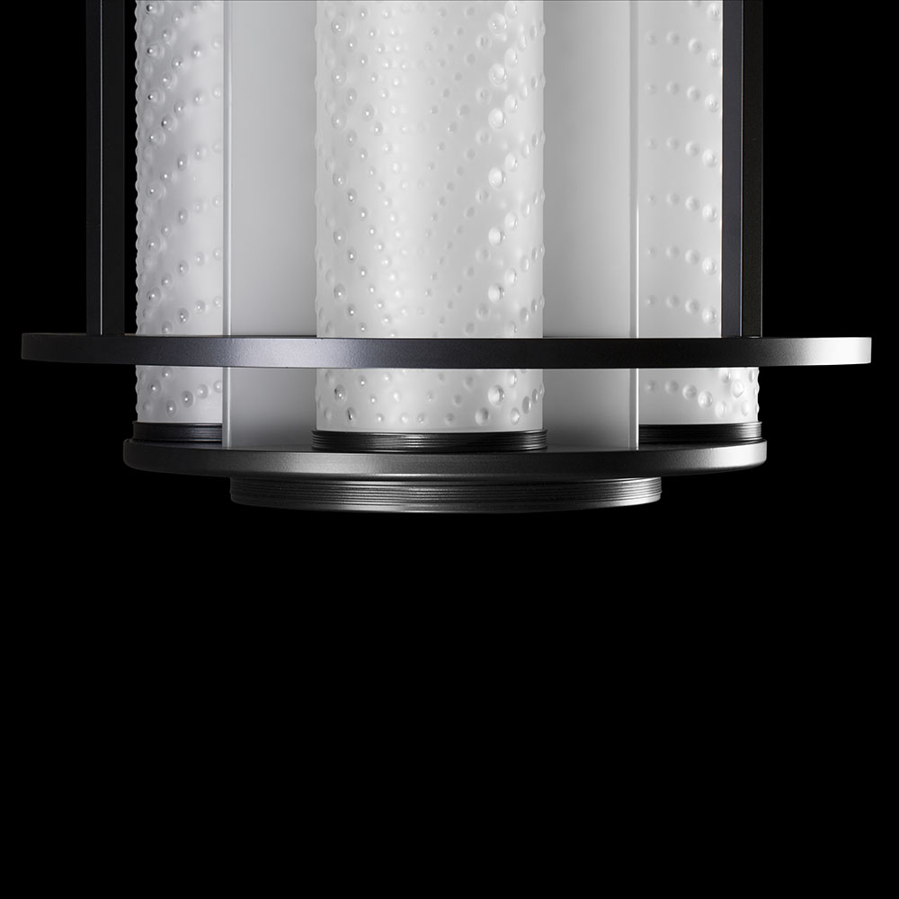 Coutard lantern SS | Clear crystal and Matte black | Pierre-Yves Rochon