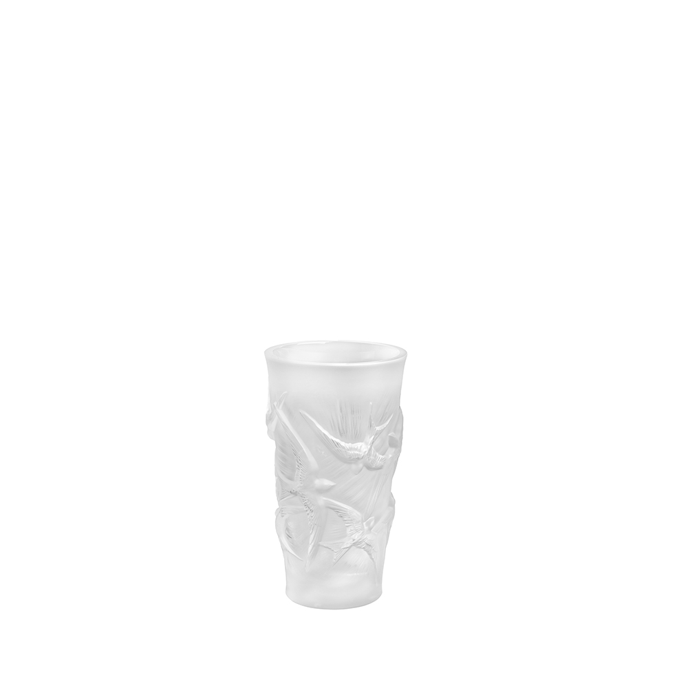 Hirondelles small vase | Clear crystal | Vase Lalique