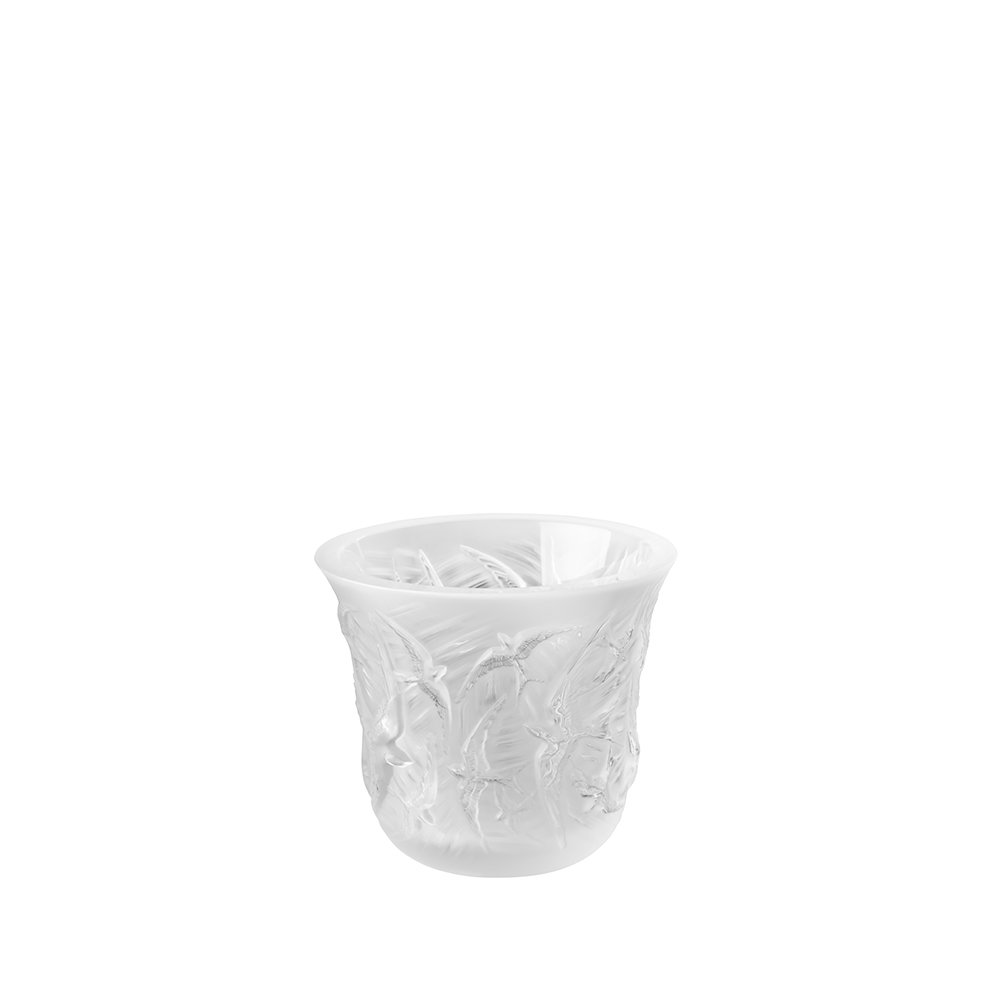 Hirondelles votive | Clear crystal | Lalique crystal votive