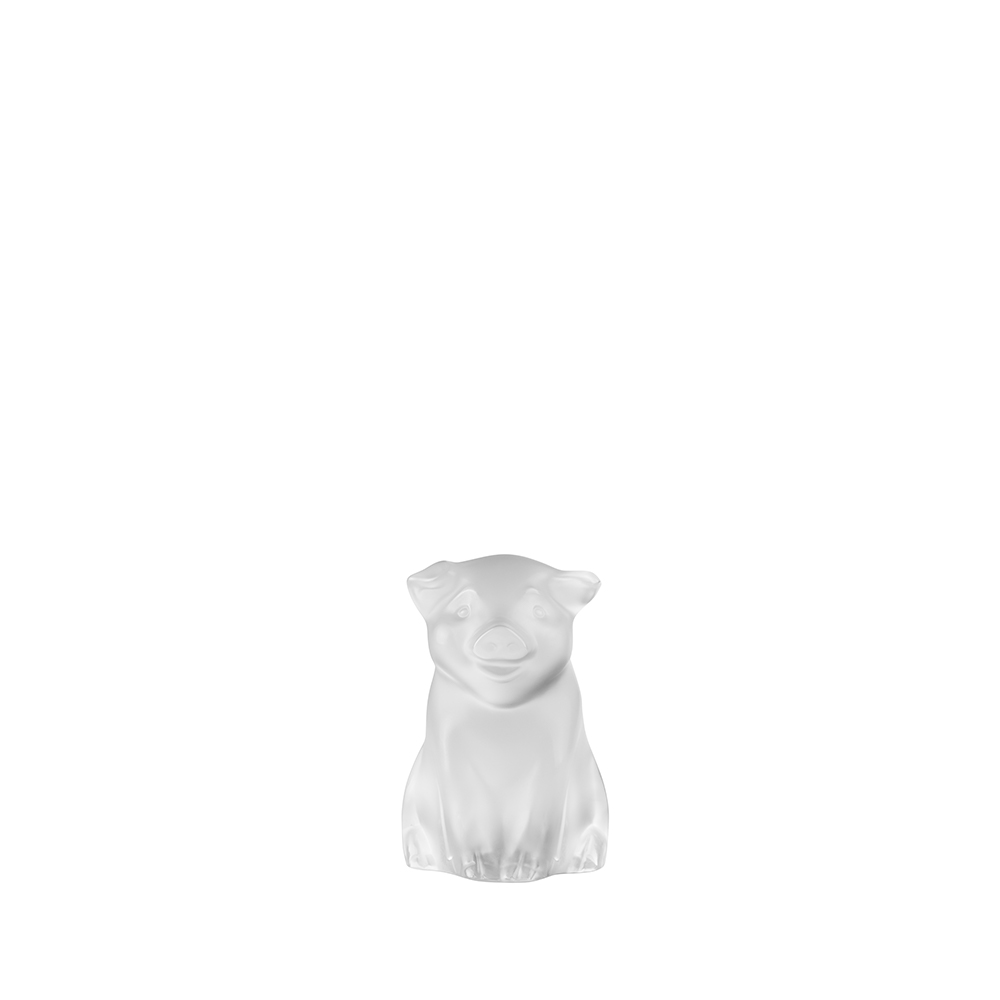 Pig sculpture | Clear cristal | Sculpture Lalique