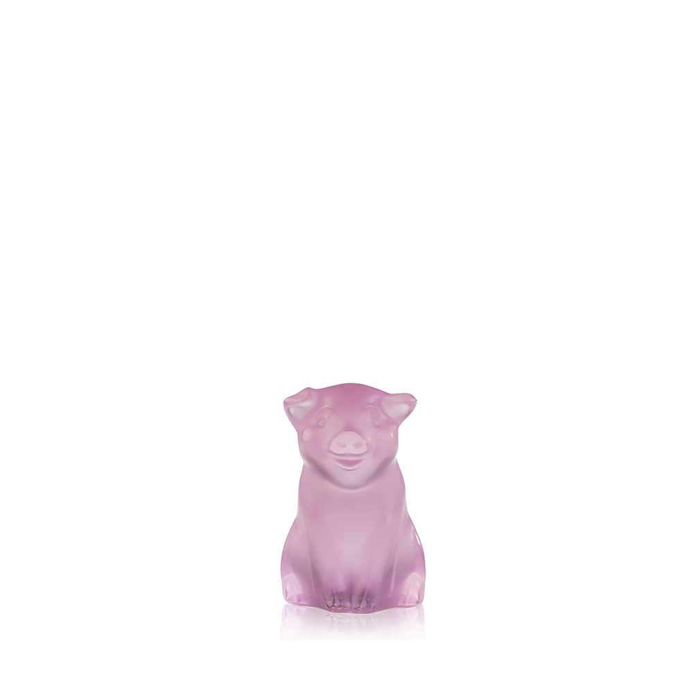 Pig sculpture | Pink cristal | Sculpture Lalique