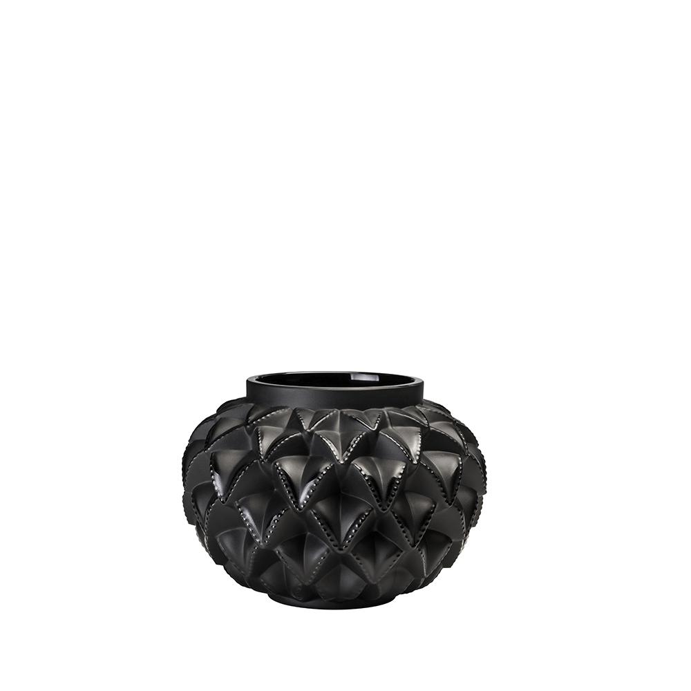 Languedoc small vase | Black crystal | Lalique crystal vase