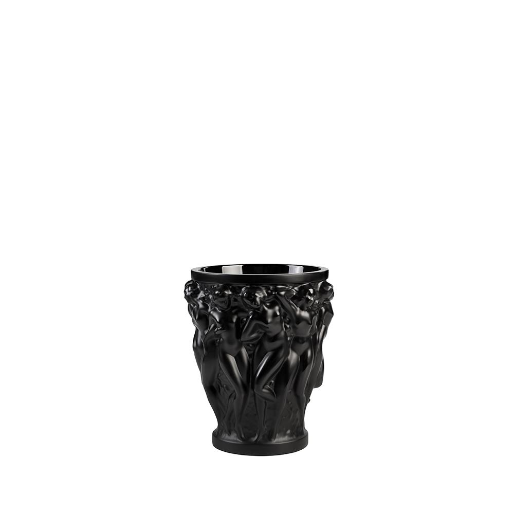 Bacchantes vase | Black crystal, small size | Vase Lalique