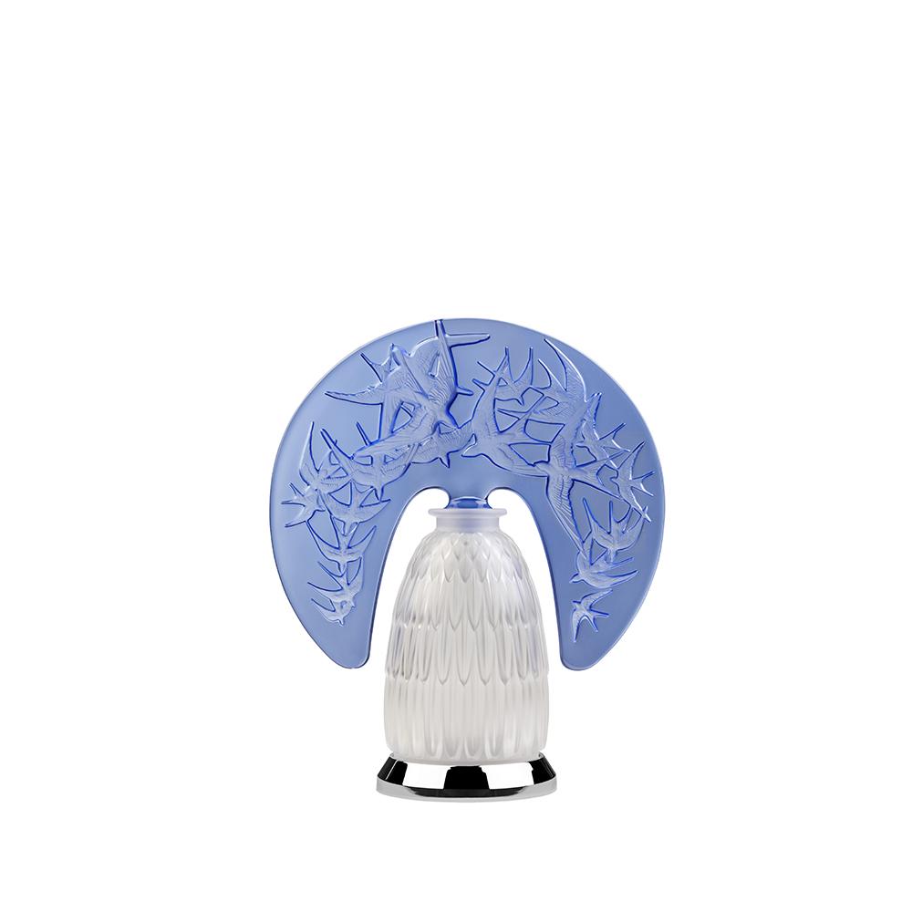 Hirondelles lamp | Sapphire blue crystal | Lamp Lalique