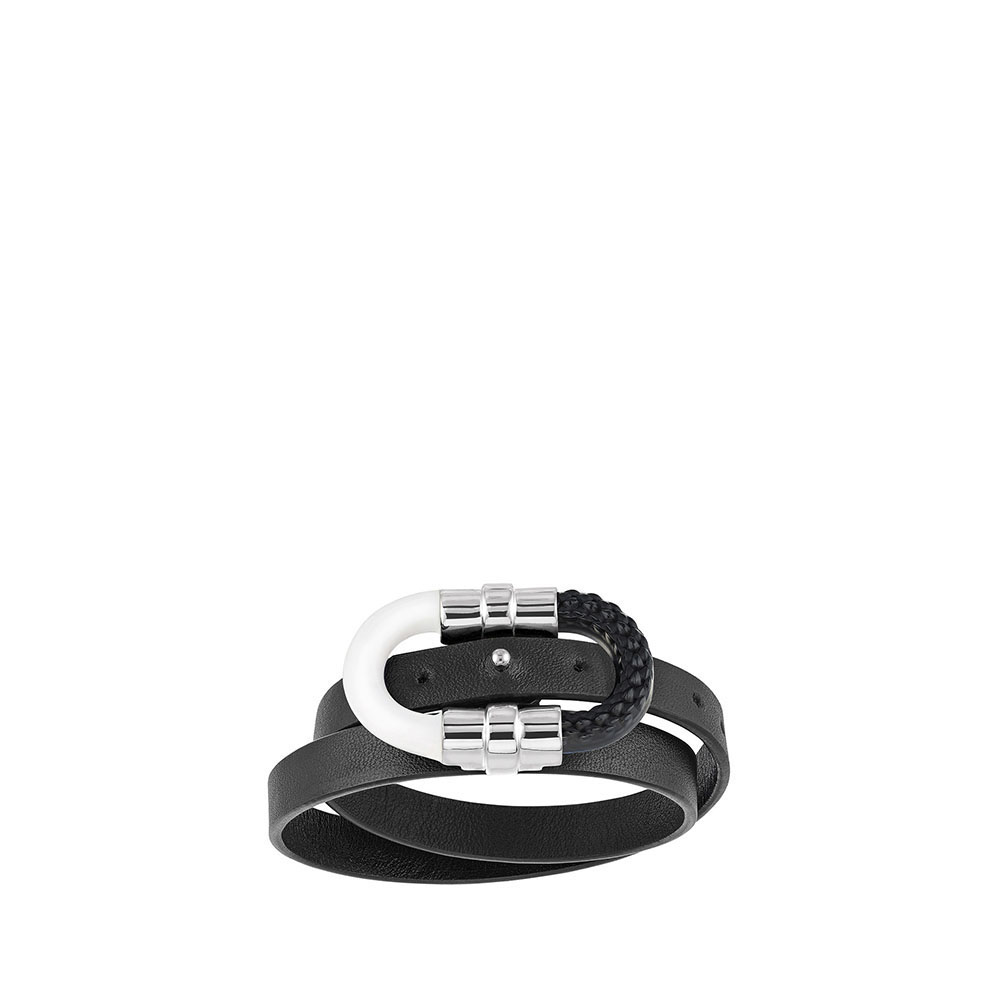 1927 Double wrap bracelet | Black crystal, silver plated | Lalique exclusive collection