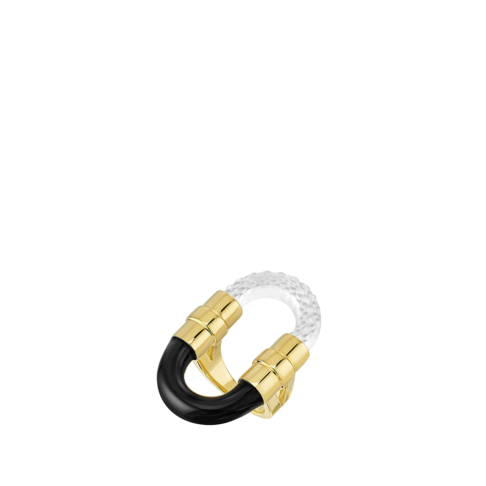 1927 Ring | Clear crystal, 18K yellow gold plated | Lalique exclusive collection