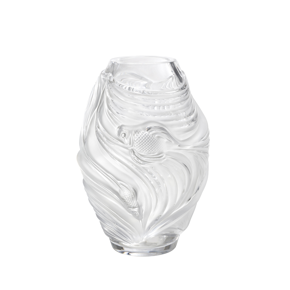Poissons combattants medium vase | Clear crystal | Vase Lalique