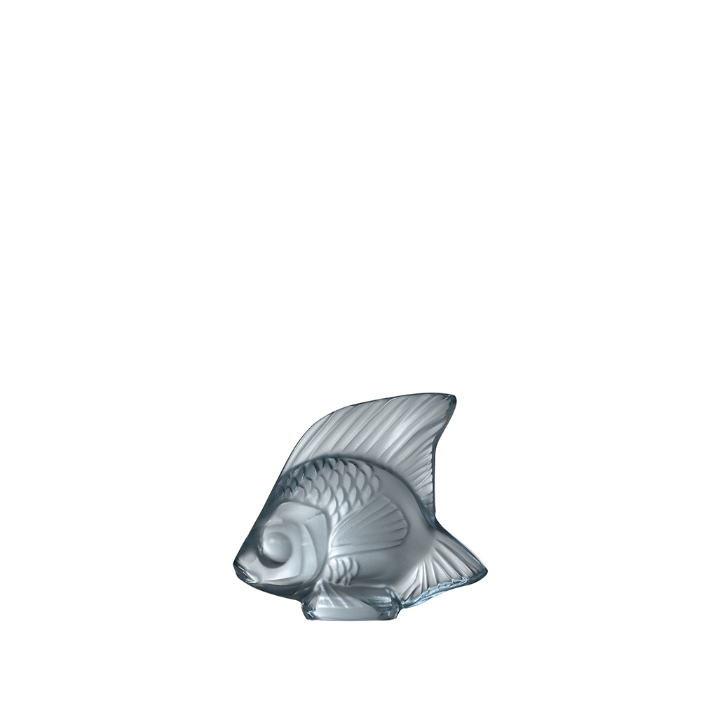 Fish sculpture | Persepolis blue crystal | Sculpture Lalique