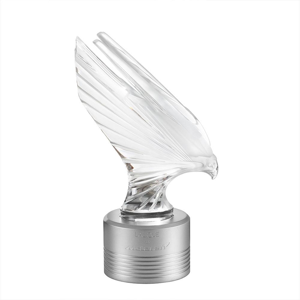 McLaren Falcon sculpture | Limited edition (375 pieces), clear crystal | Sculpture Lalique