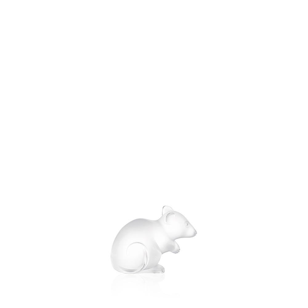 Mouse sculpture   Clear crystal   Sculpture Lalique