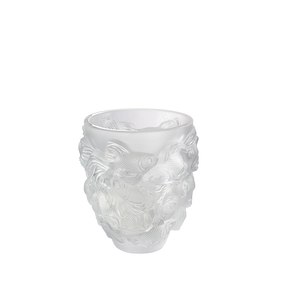 Rosetail vase | Clear crystal | Vase Lalique