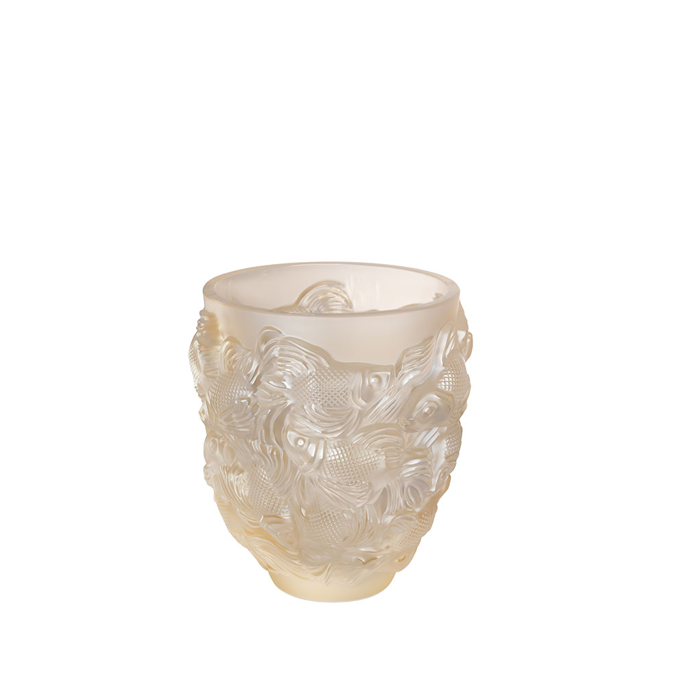 Rosetail vase   Gold luster crystal   Vase Lalique