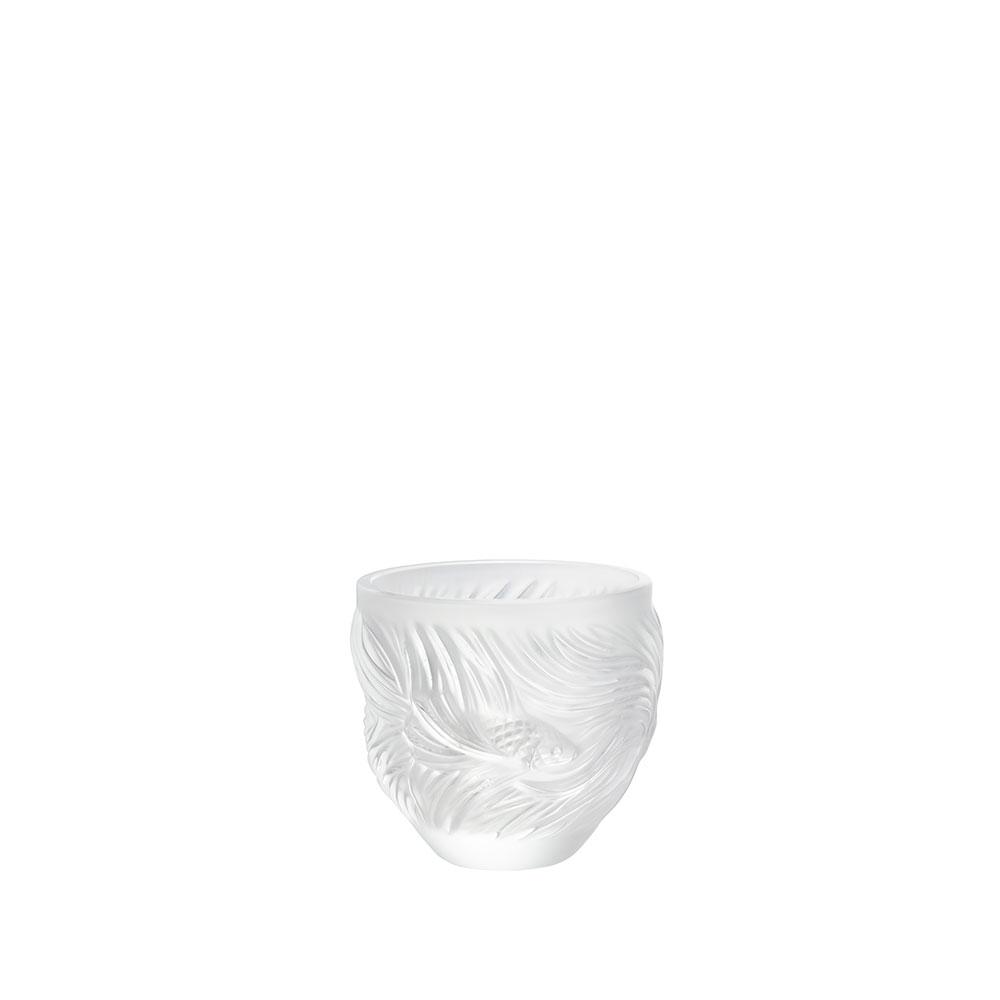 Poissons Combattants votive | Clear crystal | Lalique crystal votive