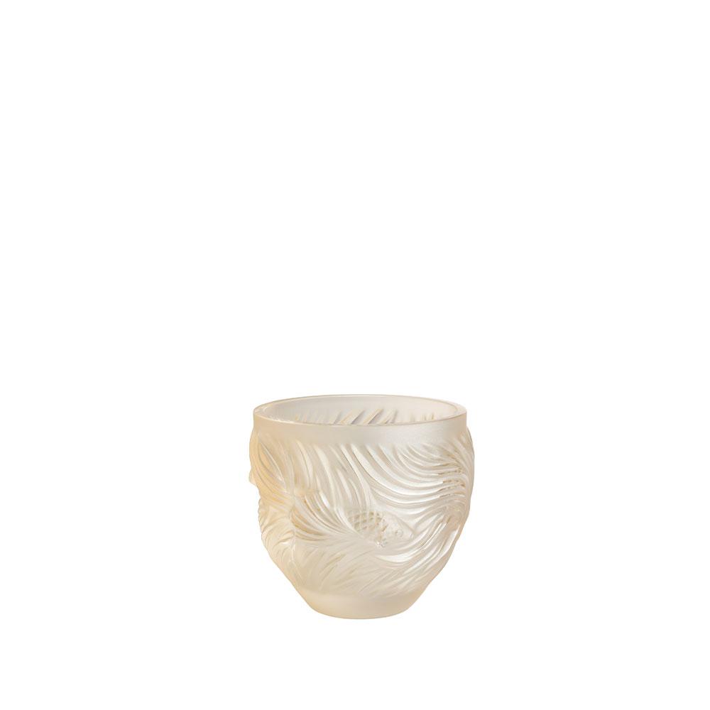 Poissons Combattants votive   Gold luster crystal   Lalique crystal votive