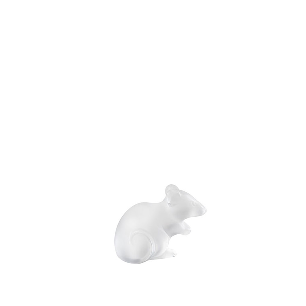 Mouse sculpture | Clear crystal, Large Size | Sculpture Lalique