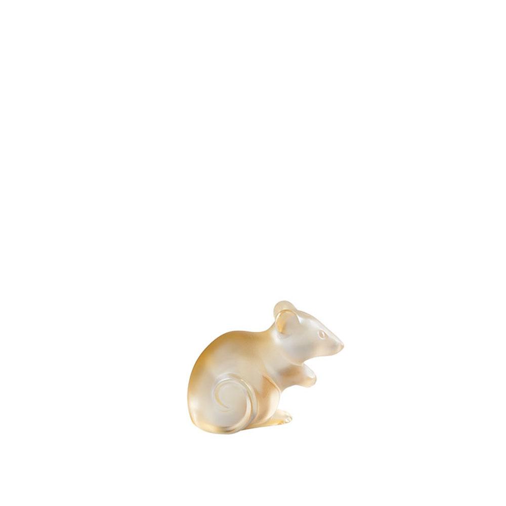 Mouse sculpture | Gold luster crystal, Large Size | Sculpture Lalique