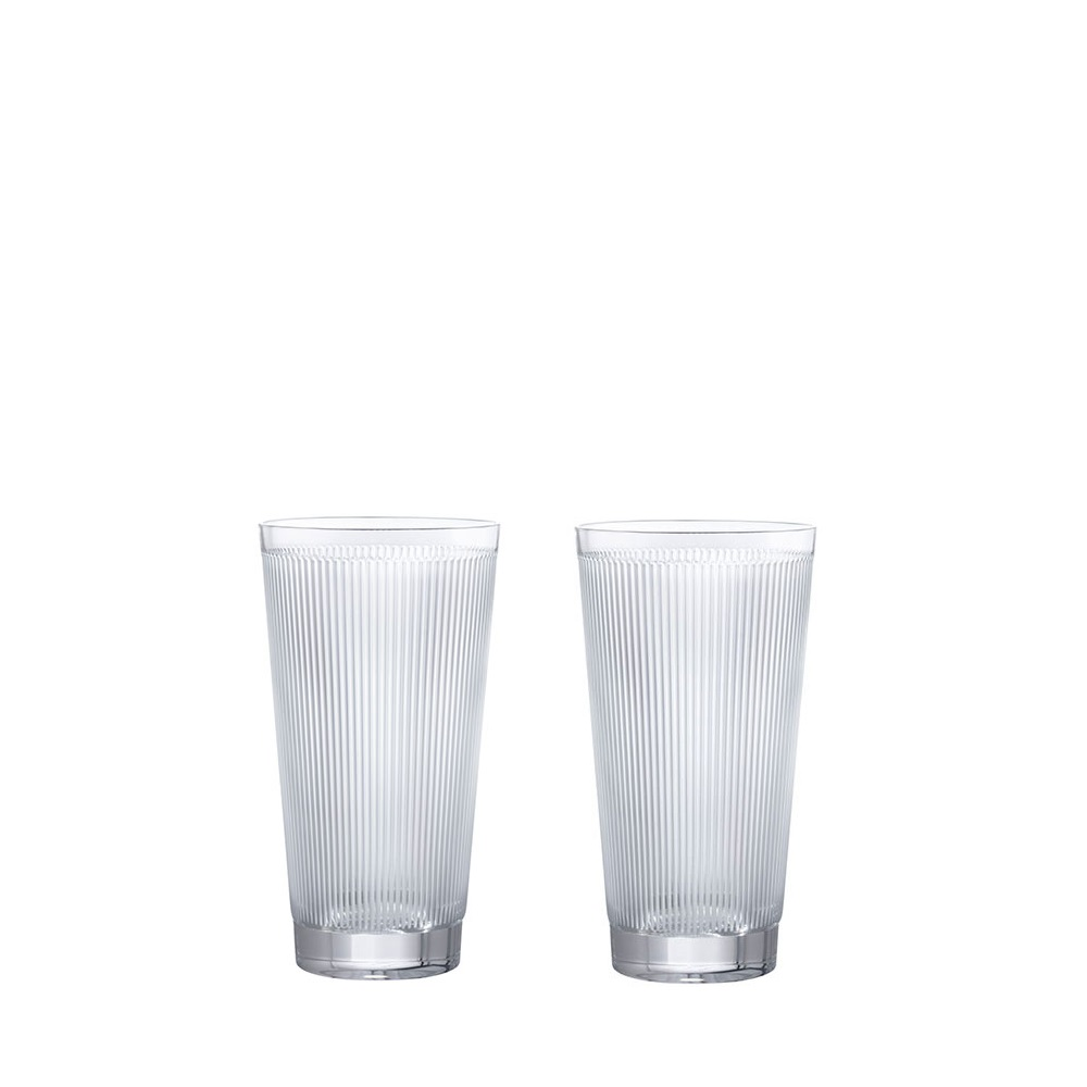 Set of 2 Highballs Wingen | Clear crystal | Glass Lalique