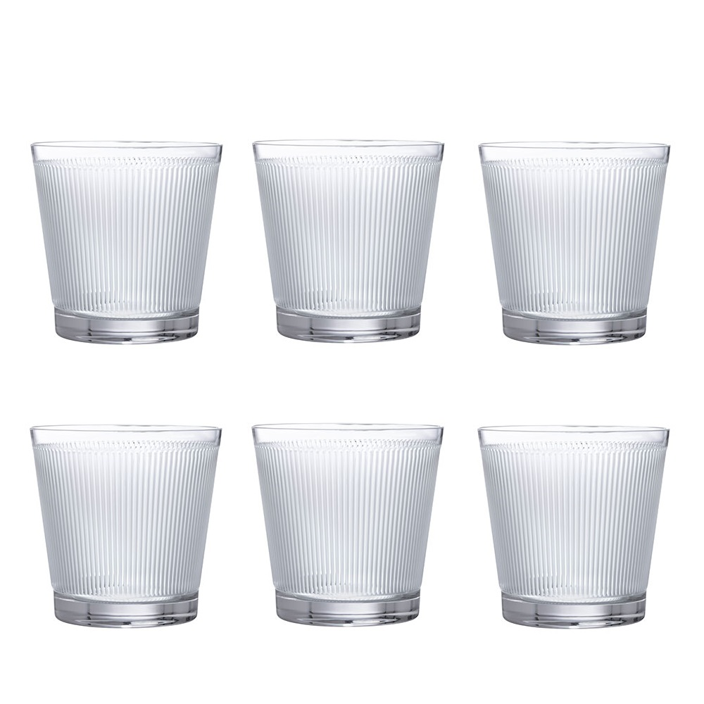 Set of 6 Tumblers Wingen | Clear crystal | Glass Lalique