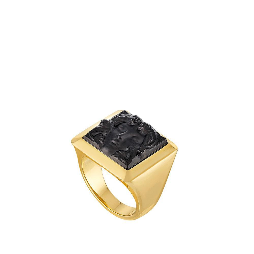 Arethuse ring | Black crystal, vermeil | Costume jewellery Lalique