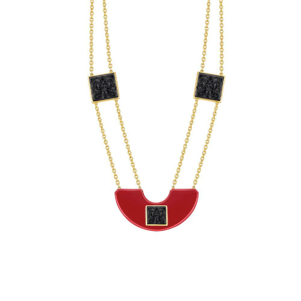Arethuse necklace | Black crystal, vermeil | Costume jewellery Lalique