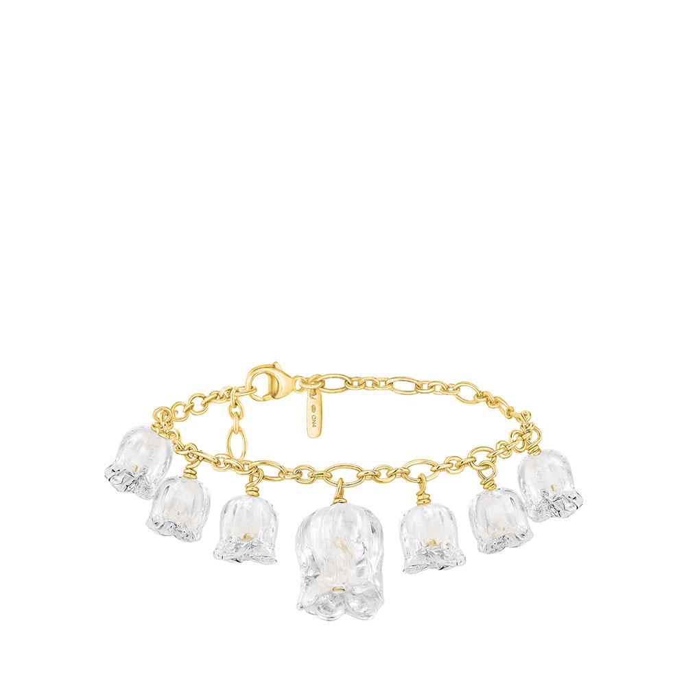 Muguet Bracelet   Clear crystal, Vermeil   Costume jewellery Lalique
