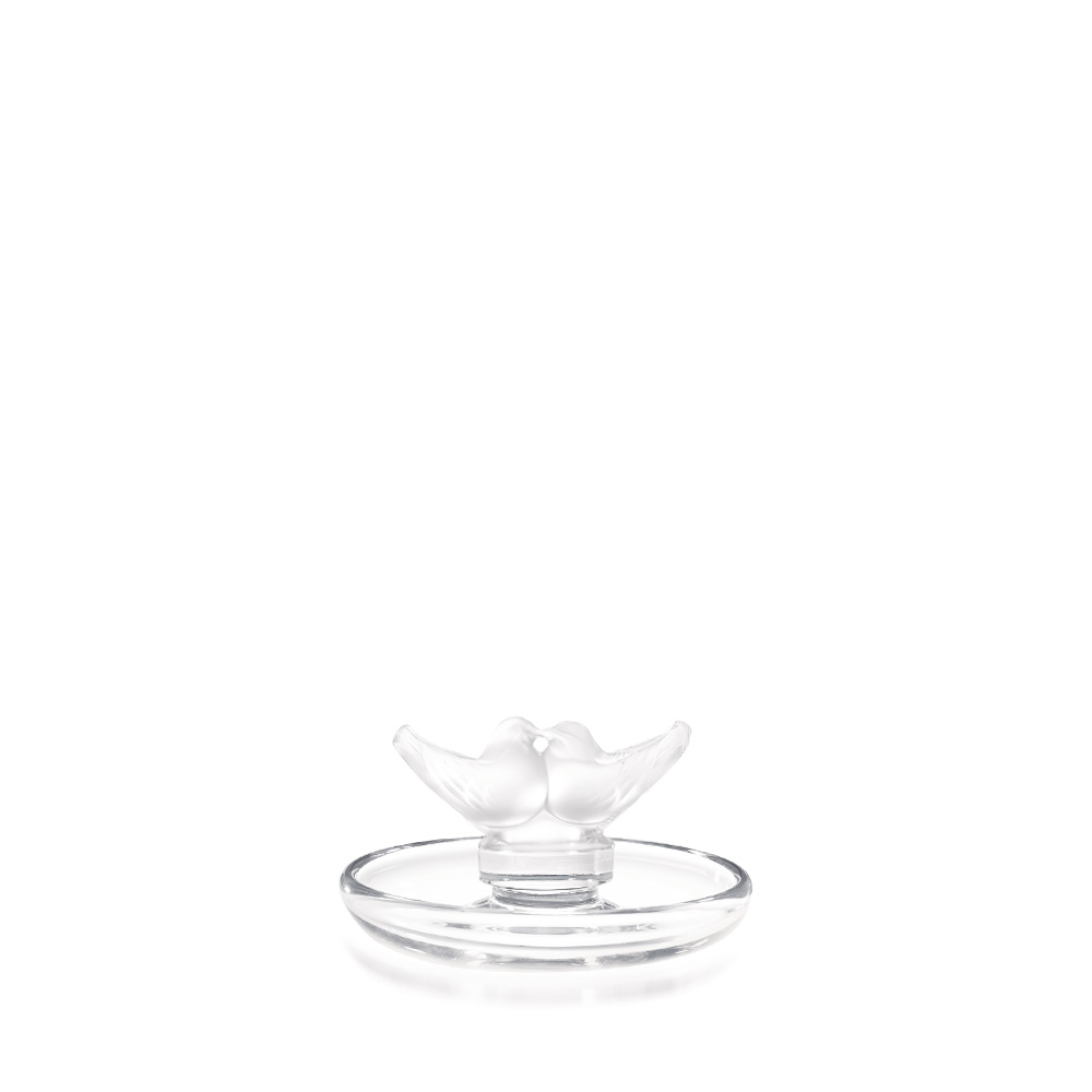2 lovebirds small bowl | Clear crystal | Small bowl Lalique
