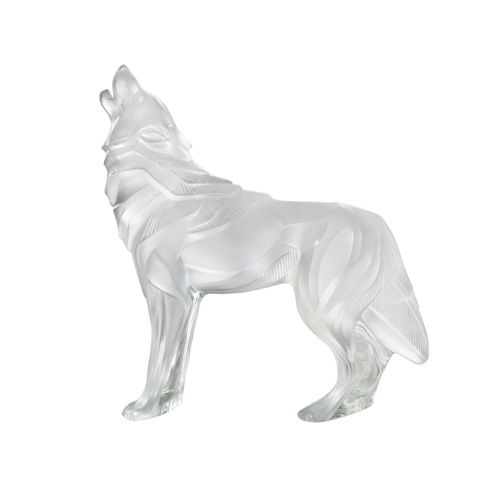 Wolf Sculpture | Clear crystal | Lalique Sculpture