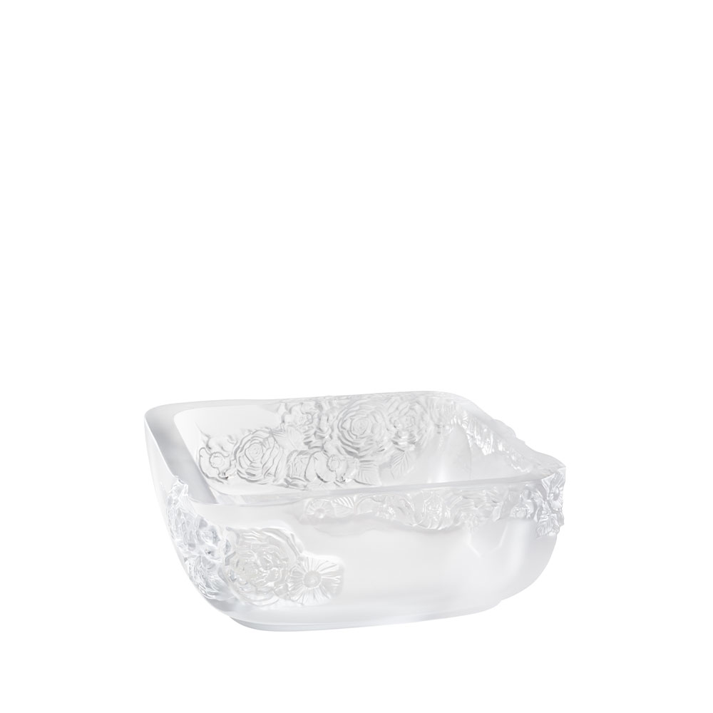 Pivoines bowl | Clear crystal | Lalique Vase