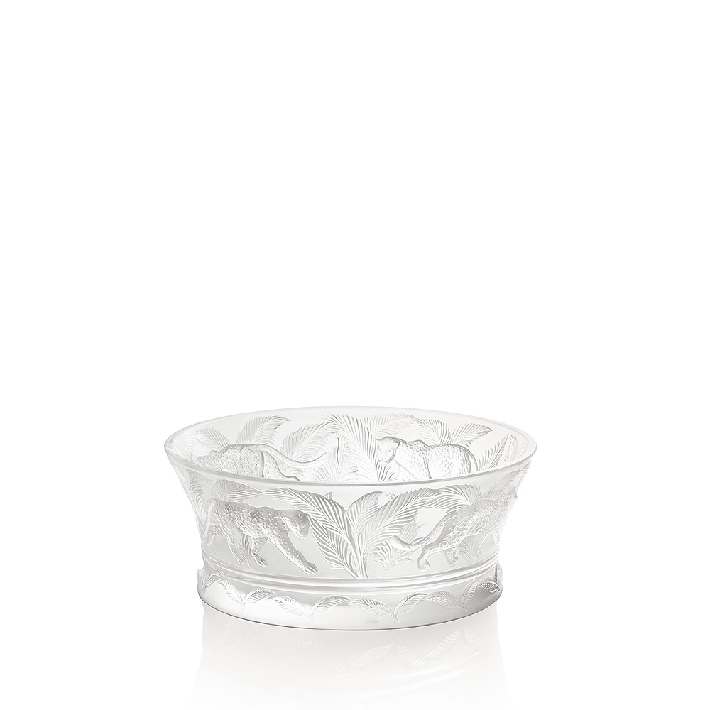 Jungle bowl | Clear crystal | Bowl Lalique