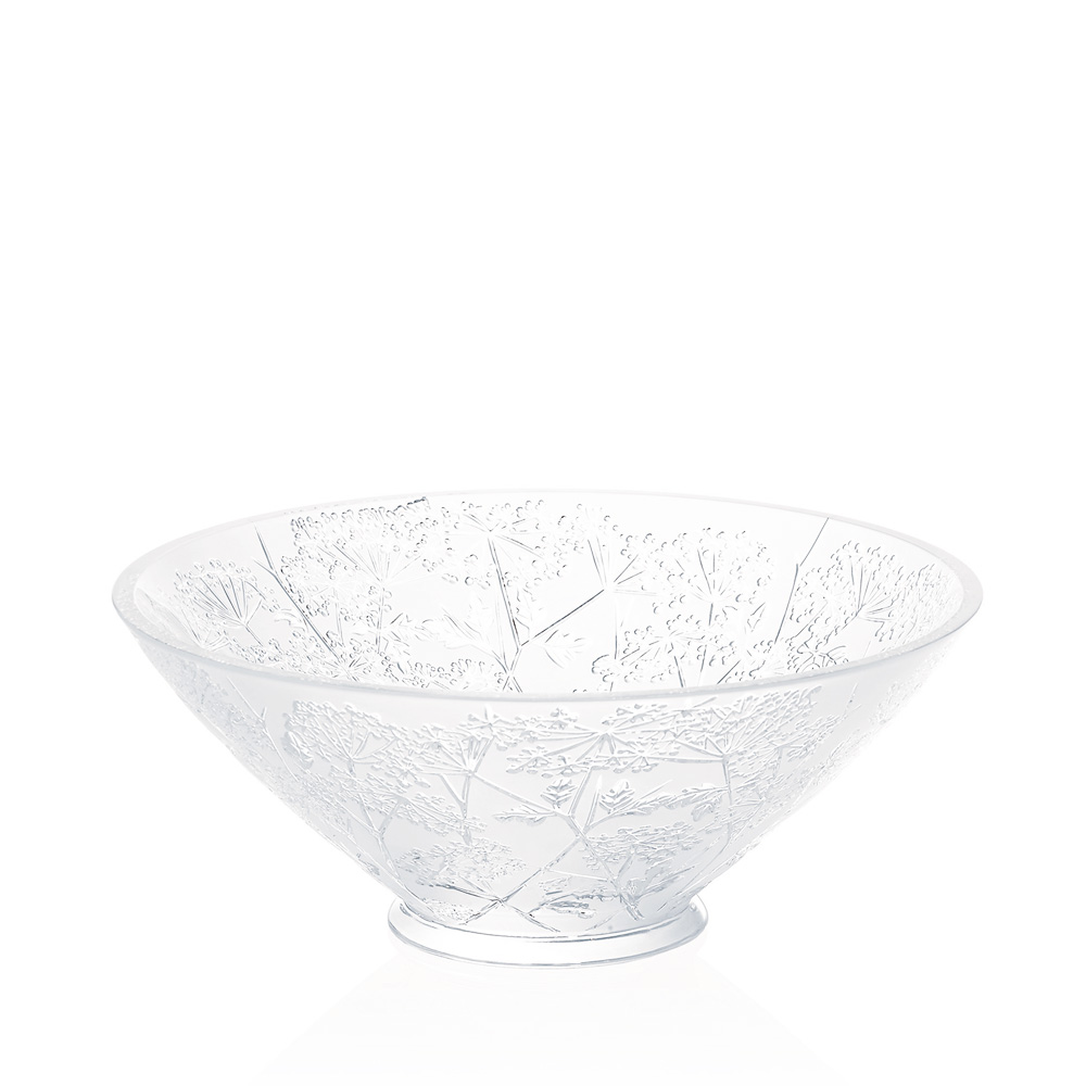 Ombelles bowl | Clear crystal | Bowl Lalique
