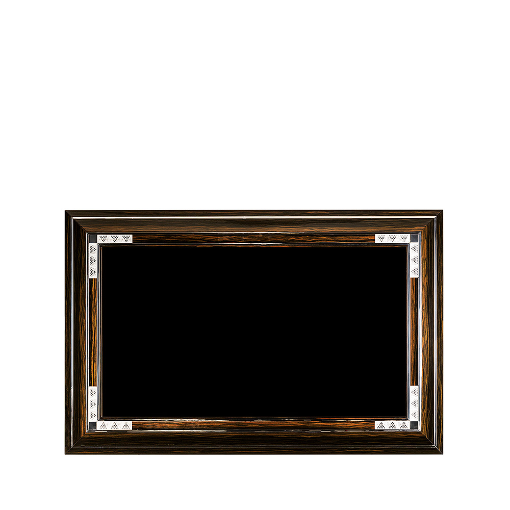 Raisins TV frame surround | Numbered edition, clear crystal and natural ebony | TV frame surround Lalique