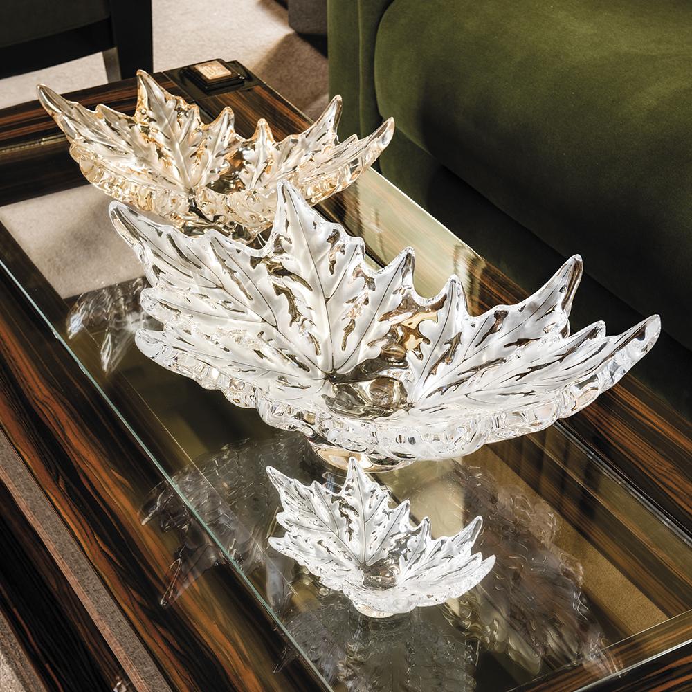 Champs-Élysées bowl | Gold luster crystal | Bowl Lalique