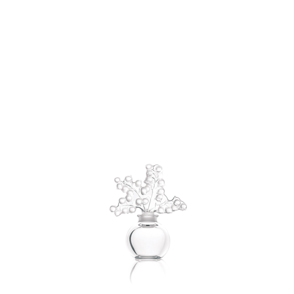 Clairefontaine perfume bottle | Clear crystal | Perfume bottle Lalique