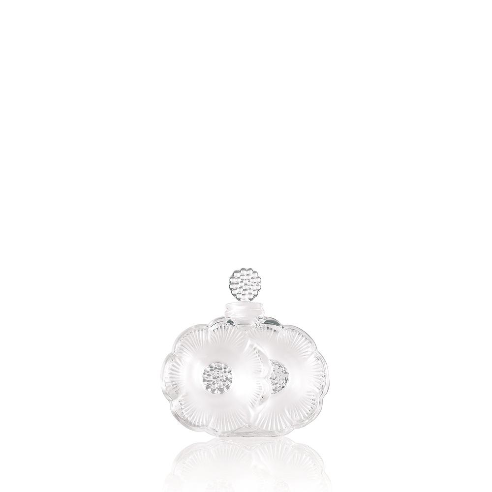 2 Fleurs perfume bottle   Clear crystal   Perfume bottle Lalique