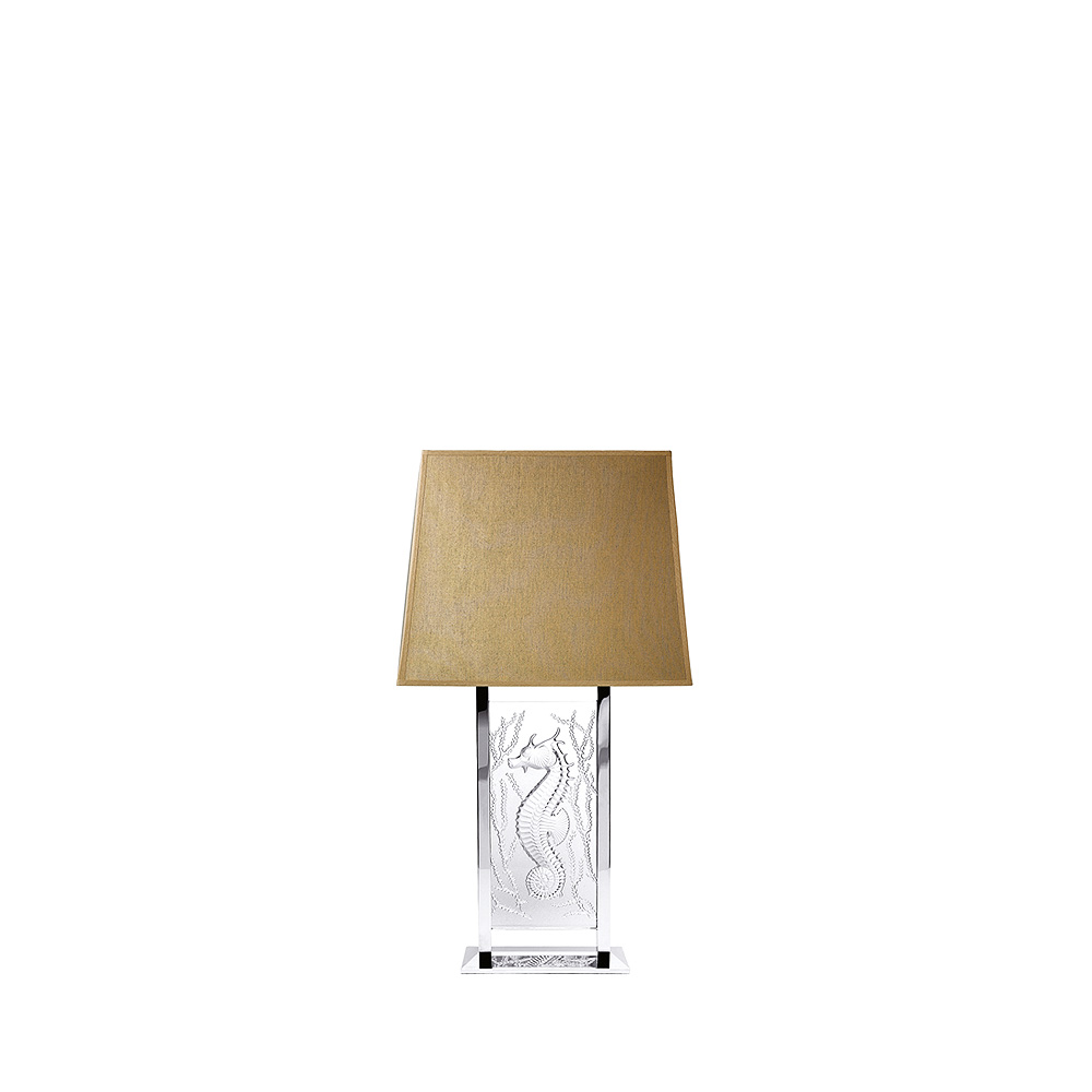 Poséidon lamp | Clear crystal, chrome finish | Interior Design Lalique