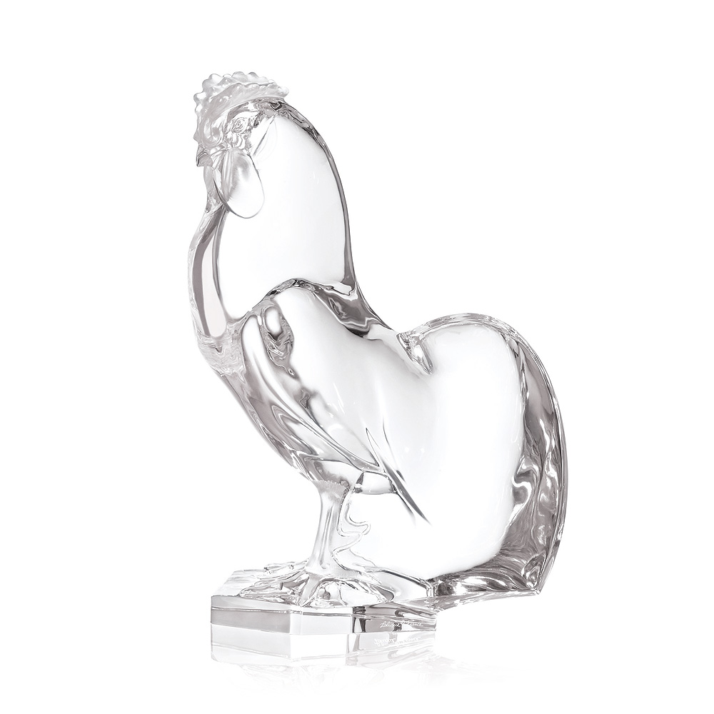 Rooster sculpture | Clear crystal | Sculpture Lalique