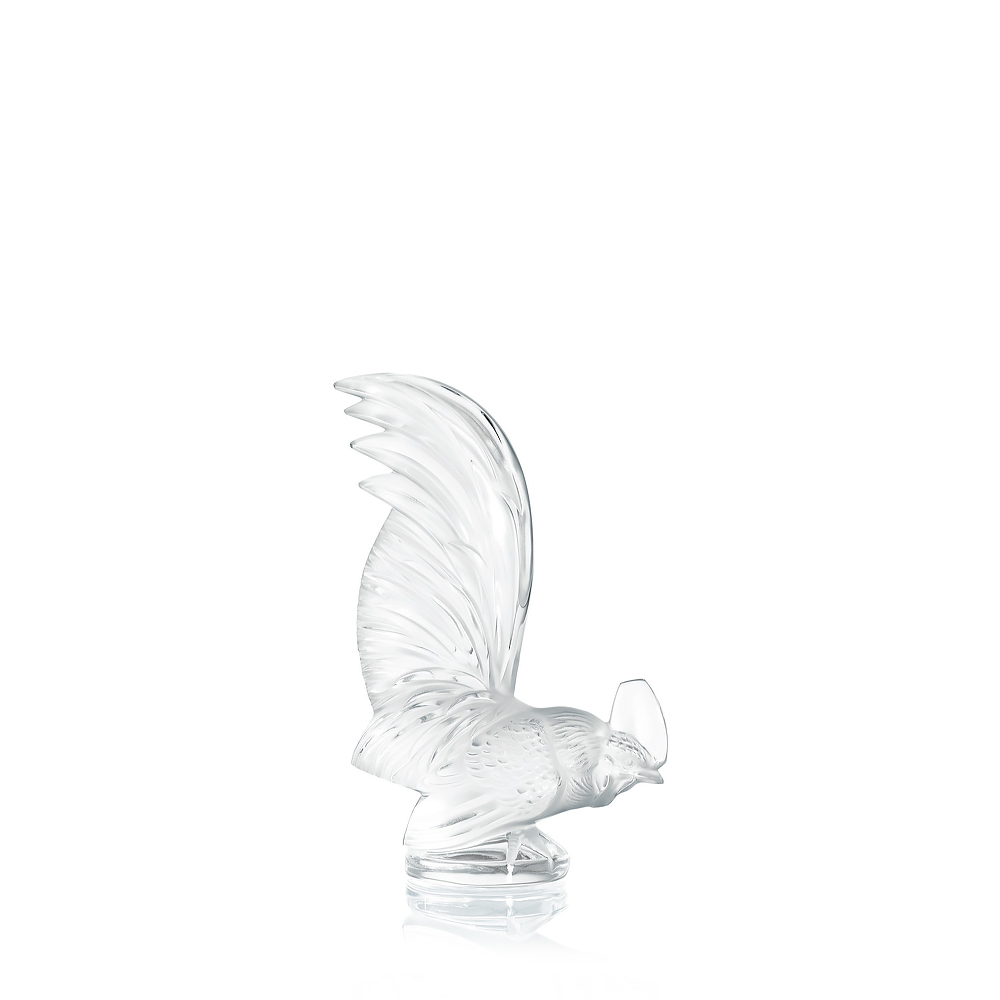 Bantam rooster sculpture | Clear crystal | Sculpture Lalique