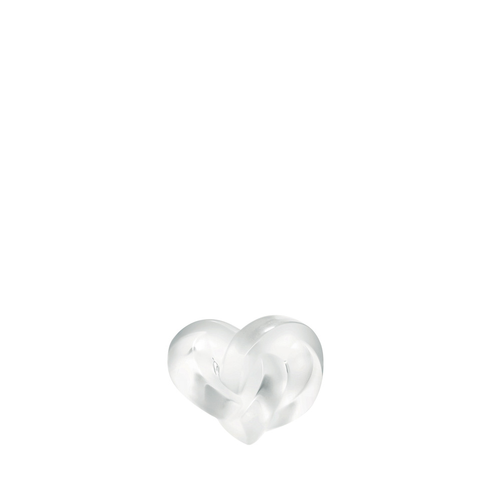 Hearts sculpture | Clear crystal | Sculpture Lalique