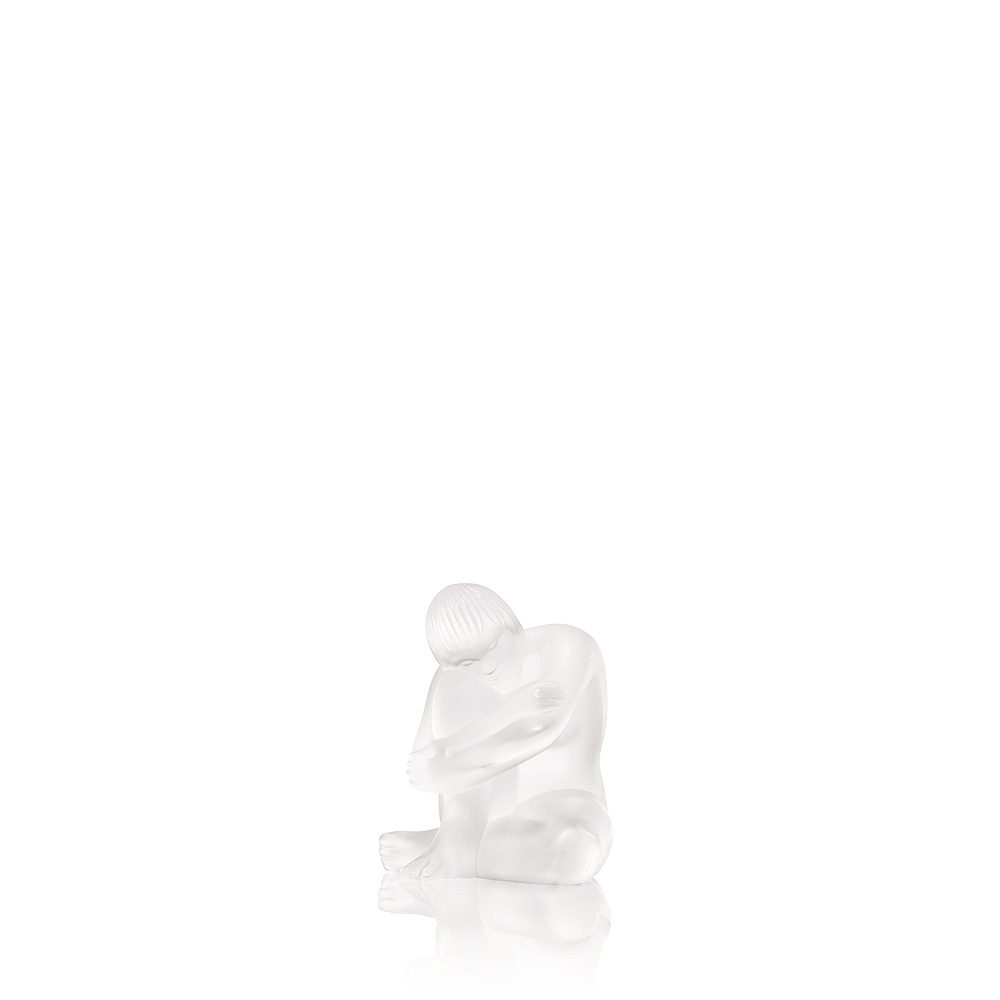 Nude Wise sculpture | Clear crystal | Sculpture Lalique
