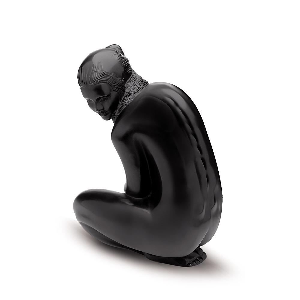 Venus, Grand Nude sculpture | Limited edition (99 pieces), black crystal | Sculpture Lalique