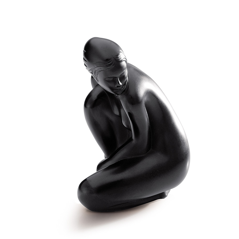 Venus, Grand Nude sculpture | Limited edition (99 pieces), black crystal | Sculpture Lalique
