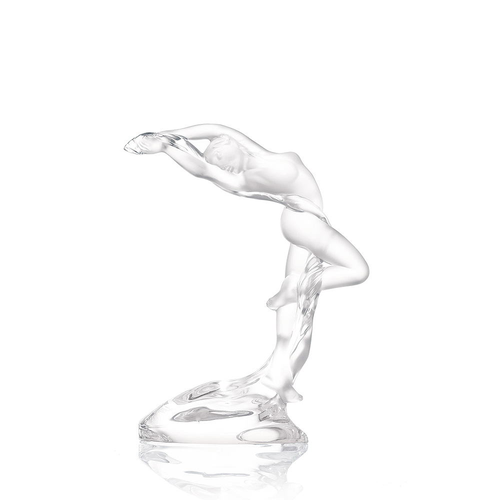 Arms up Acrobat sculpture | Clear crystal | Sculpture Lalique